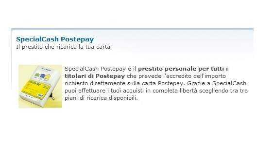 SpecialCash-Postepay