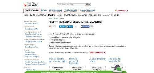 Prestito Personale Unicredit